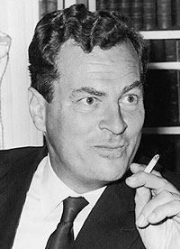 Suave Patrick Leigh Fermor in the 1960s; and…