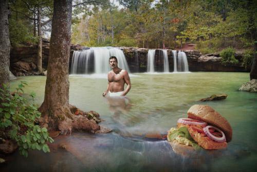 """Blackened Salmon"" from Selleck Waterfall Sandwich"