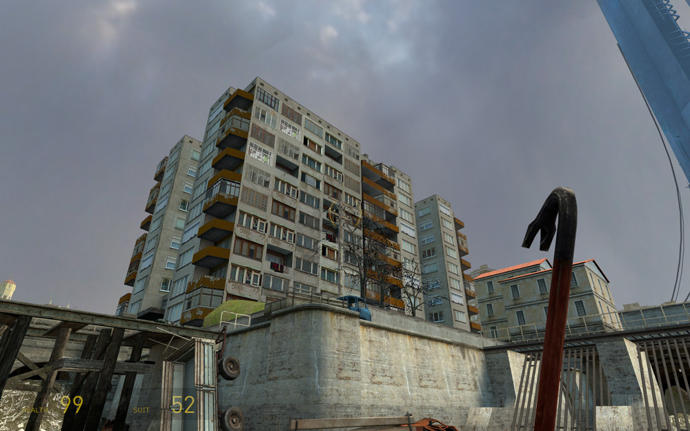 This could be the block of flats across from the Arts Tower