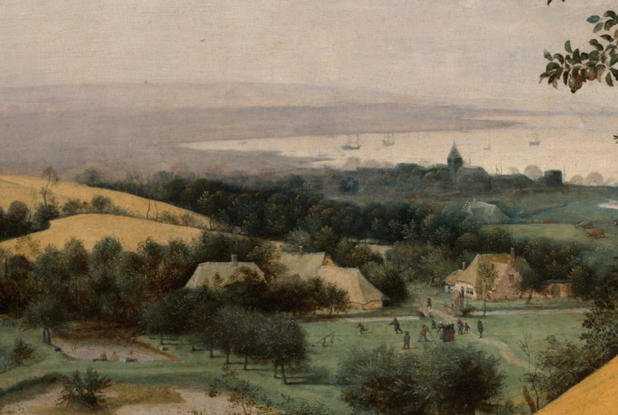 Pieter Brueghel the Elder, 'The Harvesters' (Detail)
