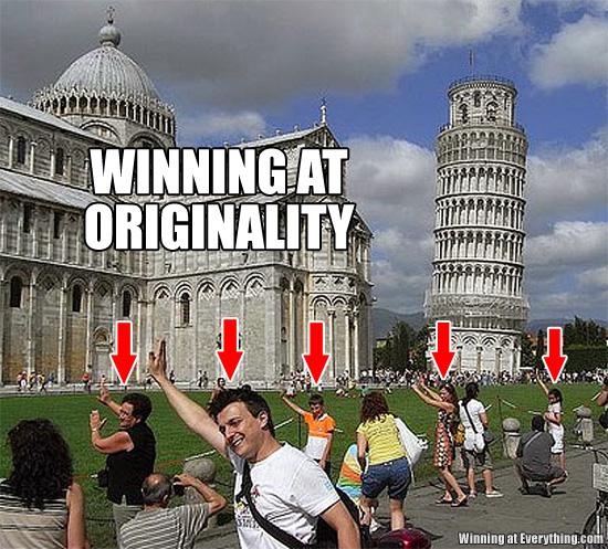 Winning at originality, in Pisa